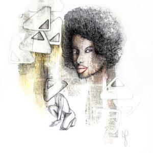 """Delilah"", Mixed Media (2015), 42x59.4cm"