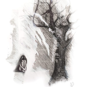 """Haunted"", Mixed Media (2014), 42x59.4cm"