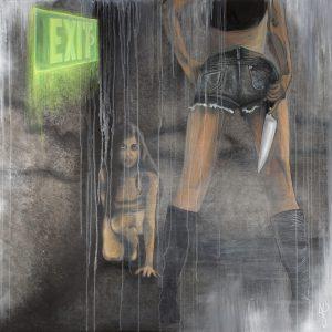 """Modern Day Martyr"", Mixed Media (2015), 150x150cm"