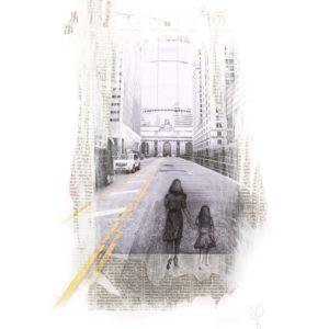 """New Atlantis"", Mixed Media (2014), 42x59.4cm"
