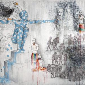 """""""Puzzleman's Final Request"""", Mixed Media (2015), 150x100cm"""
