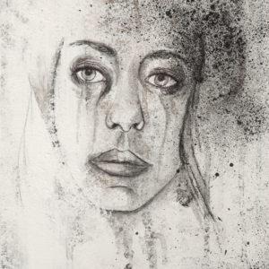 """The Sad One"", Mixed Media (2015), 23.5x30cm"