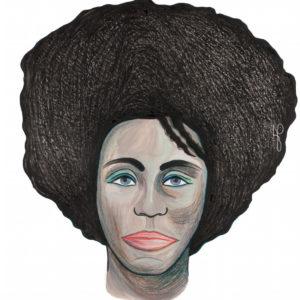 """Black Nefertiti"", Mixed Media (2014), 42x59.4cm"