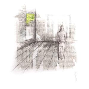 """""""(No) Exit"""", Mixed Media (2014), 42x59.4cm"""