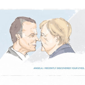 """Merkel and Macron"""